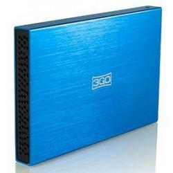 CAJA EXTERNA 2,5 SATA USB 2.0 3GO AZUL