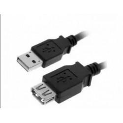 CABLE PROLONGADOR USB 2.0 AM/AH 2m