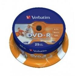 DVD VIRGEN VERBATIM BOBINA 25 UDS -R (canon incluido)