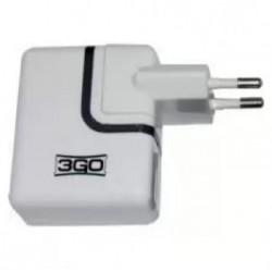 3GO CARGADOR DE HOGAR USB 2 PUERTOS 3,1 A