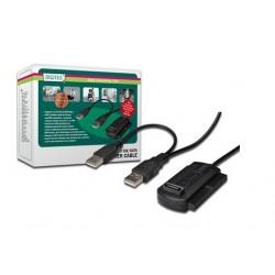 ADAPTADOR HDD EXTERNO USB2.0 A IDE Y SATA DIGITUS DA-70148-3